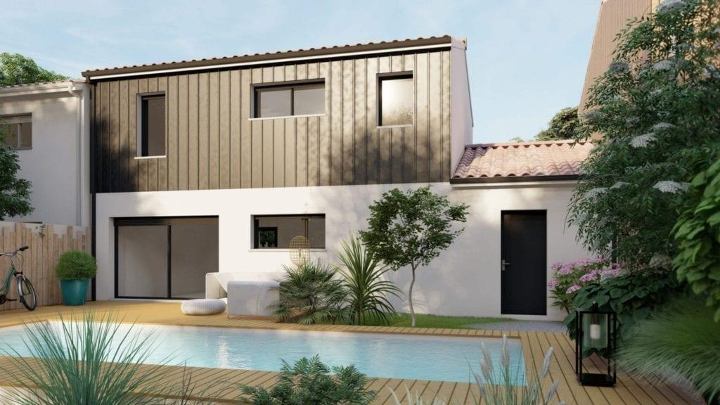 Maison modèle urban vue piscine